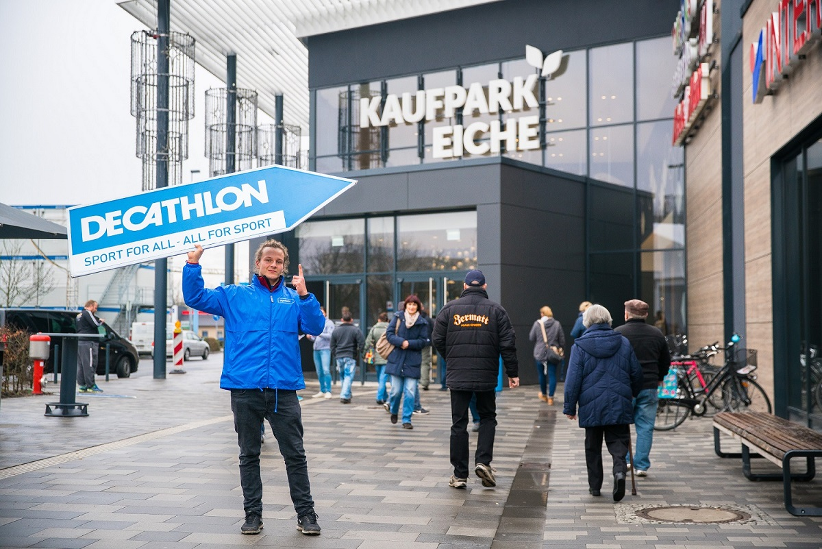 New opening at Kaufpark Eiche: redos and HLG win DECATHLON as new anchor tenant